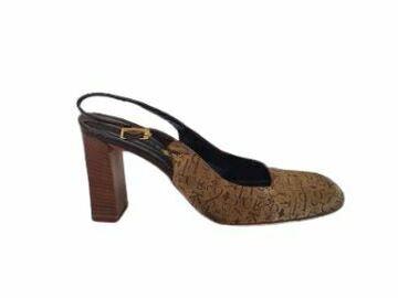 For  Sale: PATRICK COX printed logo block heel Size 7.5-8