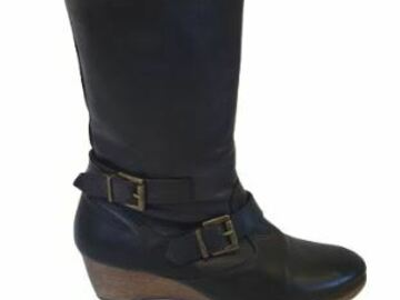 For  Sale: VANESSA BRUNO Black boots with buckles Size 7.8-8