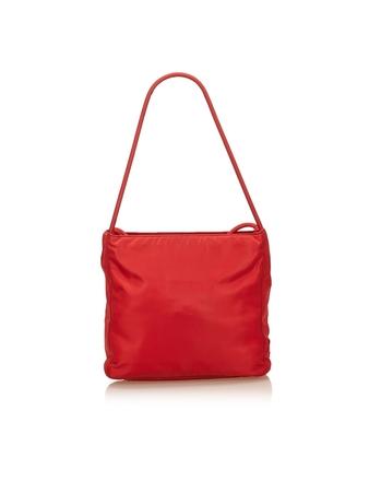 Re-sell: Hot Red Tessuto nylon Saffiano tote bag