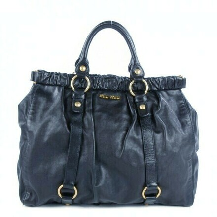 Re-sell: Classic Vitello blue soft-leather tote bag