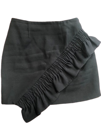 For  Sale: Black Mini skirt with Ruffle Size 8