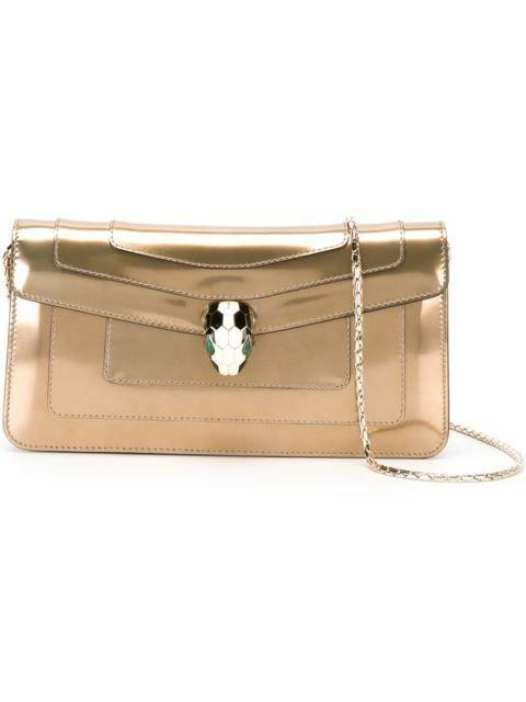 Buy: Serpenti Forever Gold Clutch Bag