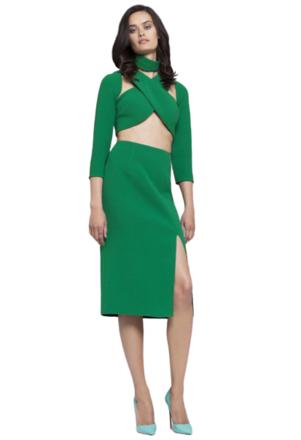 For  Sale: Emerald green cross crop top Size 4