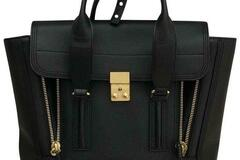 For  Sale: 3.1 PHILLIP LIM Pashli Medium Black with Gold Hardware Leather Sa