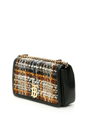 For  Sale: Cr New Lola Tweed Black Multi Leather Cross Body Bag