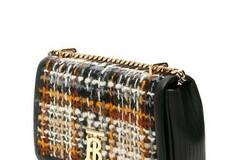 For  Sale: BURBERRY Cr New Lola Tweed Black Multi Leather Cross Body Bag