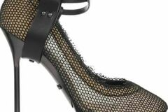 For  Sale: LANVIN Leather-strapped fishnet and mesh pumps Size 9.5-10