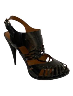 Buy: Spazz black leather heels Size 9.5-10