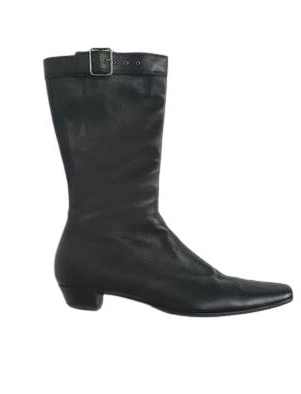 Buy: Black Leather Boots Size 7.5