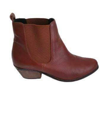 For  Sale: Red Leather Ankle Length boots Size 9.5