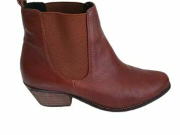 For  Sale: SOLES Red Leather Ankle Length boots Size 9.5