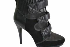 For  Sale: WITTNER Black stiletto heel ankle boots Size 10-10.5