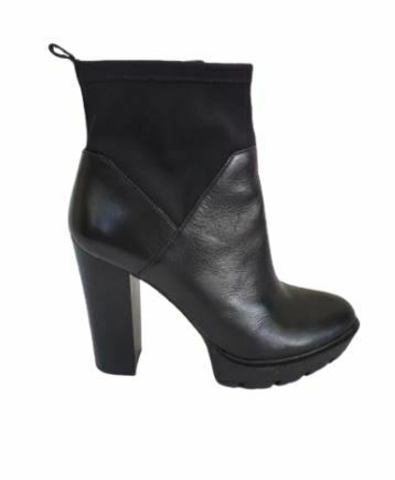 For  Sale: Black leather high heel ankle boots Size 10-10.5