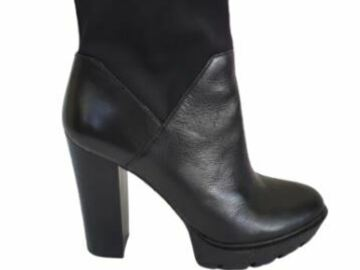 For  Sale: WITTNER black leather high heel ankle boots Size 10-10.5