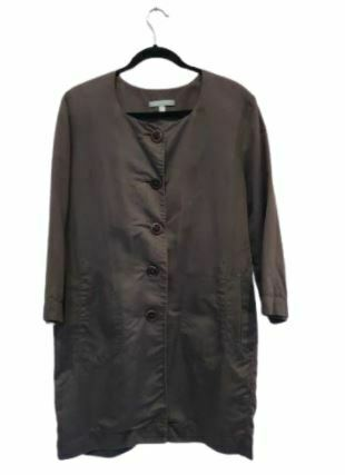 For  Sale: Brown long sleeve buttoned shirt dress Size 14
