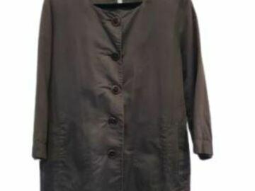 For  Sale: JULIETTE HOGAN brown long sleeve buttoned shirt dress Size 14