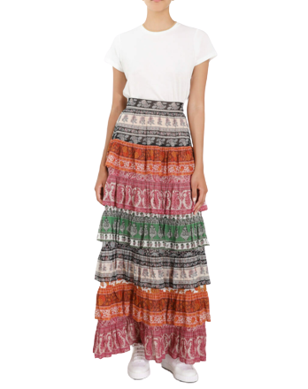 Re-sell: Amari Tiered maxi skirt Size 10