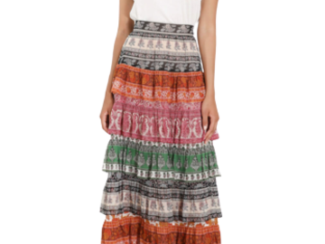 For  Sale: ZIMMERMANN Amari Tiered maxi skirt Size 10