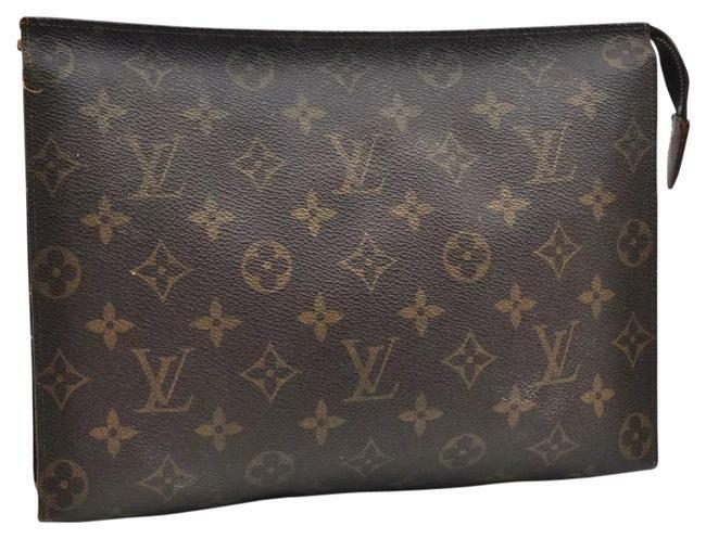 Buy: Monogram Toiletry 26 Pouch Brown Canvas Clutch