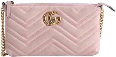 Buy: Chain Marmont Gg Mini Pink Leather Cross Body Bag