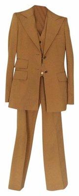 Buy: Mustard Dulce & Gabbana Three Pieces Pant Suit