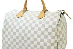 For  Sale: LOUIS VUITTON Speedy Boston Bag 30 Damier Azur Doctor