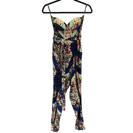 Re-sell: Strapless Jumpsuit Multi Size 8