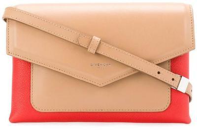 Buy: Duetto Beige Calfskin Leather Cross Body Bag