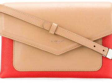 For  Sale: GIVENCHY Duetto Beige Calfskin Leather Cross Body Bag