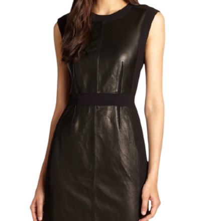 For  Sale: Black Leather mini dress Size 8