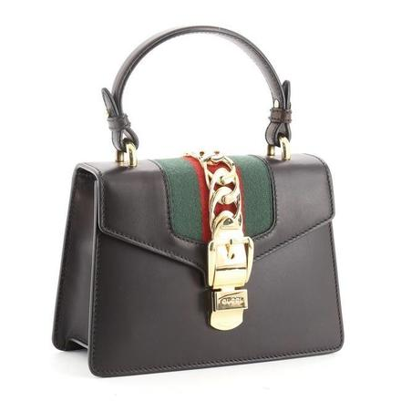 For  Sale: Sylvie Top Handle Mini Black Leather Shoulder Bag