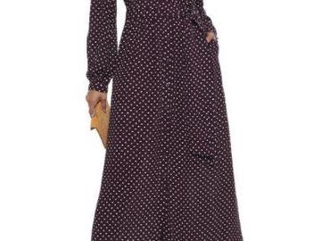 For  Sale: ZIMMERMANN Grape Polka dots Maxi Dress Size 10