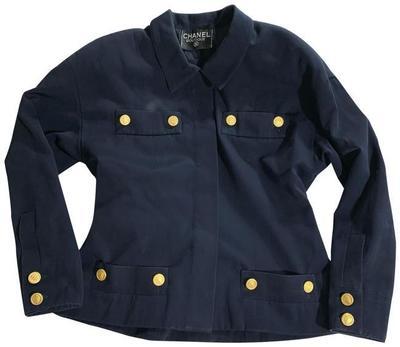 Buy: Vintage Navy Blue Wool Jacket Blazer