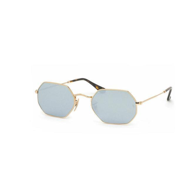 Buy: Gold Frame & Silver Flash Mirrored Lens