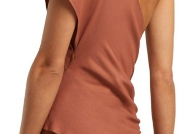 For  Sale: JACQUEMUS Terracotta 38(6) Passo Assymetryc Draped Blouse