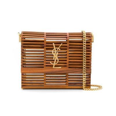 Buy: Monogram Kate Small Brown Wood Shoulder Bag