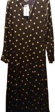 Re-sell: Brown Cream 36 Cameron Polka Dots Flared Skirt
