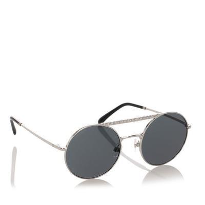 Buy: Blue Enamel Round Mirror Sunglasses