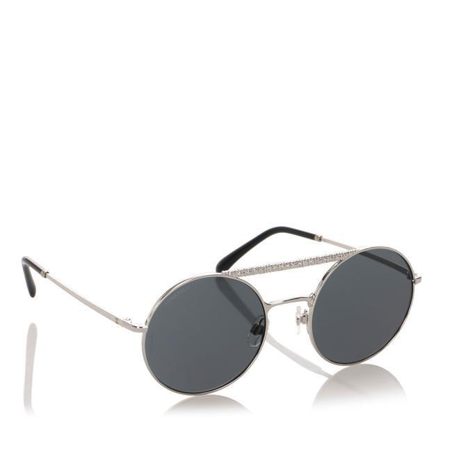 Buy: Blue Enamel Round Mirror Sunglasses