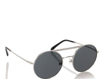 For  Sale: CHANEL Blue Enamel Round Mirror Sunglasses
