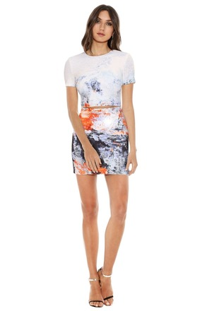Re-sell: BEC & BRIDGE  Fire & Ice Tee Dress - Size 8