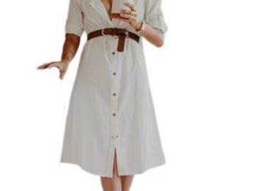 For  Sale: HEMP Off -Shoulder White Dress Size 8-14