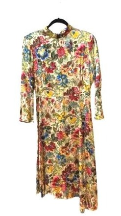 For  Sale: SANDRO tropical floral print long sleeve dress Size 8