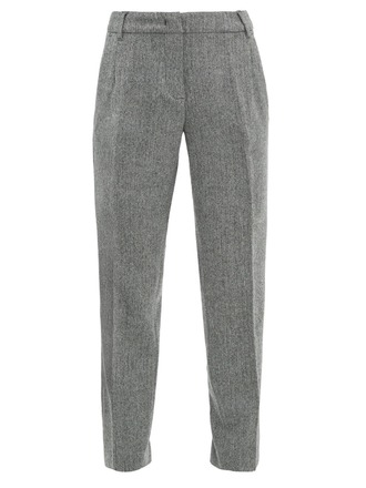 For  Sale: S MAX MARA Grey wool cuffed pants Size 10