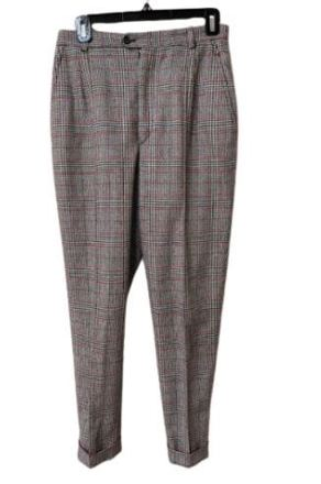 Re-sell: Grey and red checkered pants Size 14