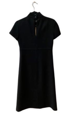 For  Sale: AGNES B Black crepe short sleeve dress Size 8-10