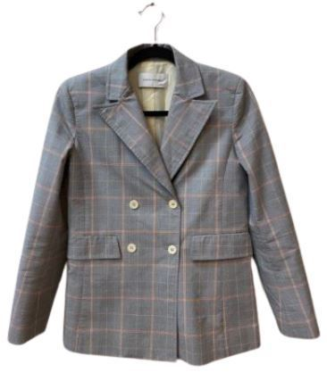 For  Sale: Grey checkered jacket Size 8