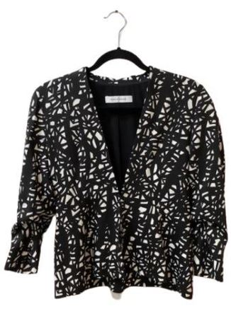 Re-sell: Black and white patterned Jacket Size 10