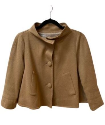 Re-sell: Tan buttoned up jacket Size 8