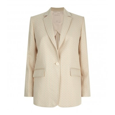 For  Sale: Beige dot embroidered blazer Size 12
